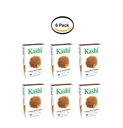 PACK OF 6 - Kashi 7 Whole Grain Nuggets Breakfast Cereal, 20 Oz