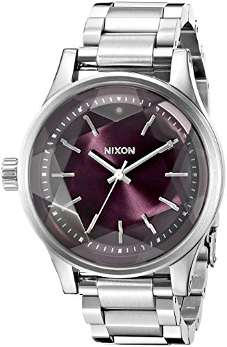 Nixon-Womens-A4092157-Facet-38-Analog-Display-Japanese-Quartz-Silver-Watch