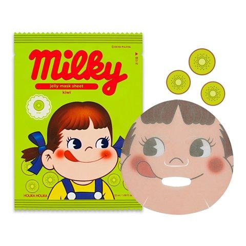 Holika Holika [Sweet Peko Edition] Pure Essence Jelly Mask Sheet Kiwi (10 sheet) ...