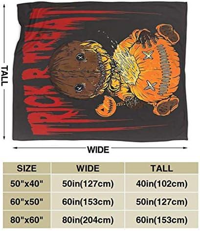 uxingdouriyongpin Trick Or Treat Halloween Couverture en Micro-Polaire Ultra-Douce pour Adultes ou Enfants 60 'X50