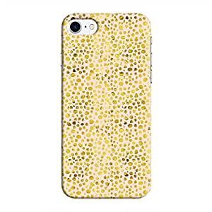 Cover It Up - Gold Pink Pebbles Mosaic iPhone 8 Hard Case