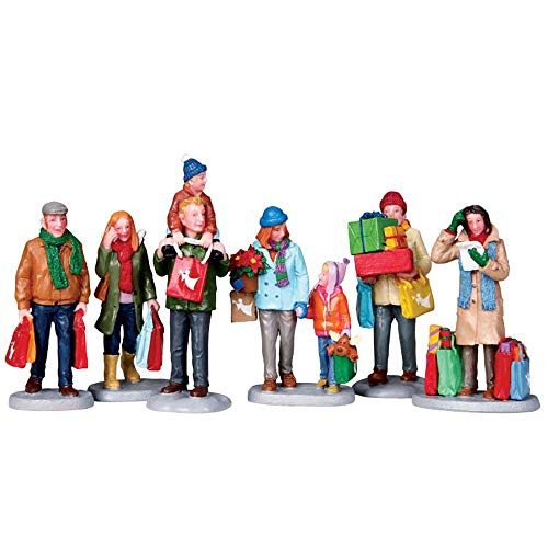 Lemax Village Collection Holiday Shoppers Set of 6 92683