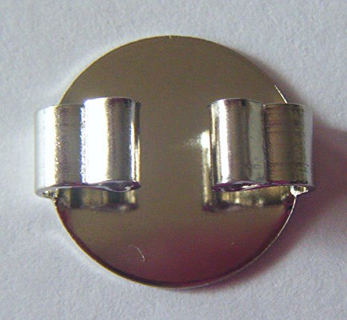(Blank Bolo Tie Round Slides Pack of 10 Silvertone 16mm)