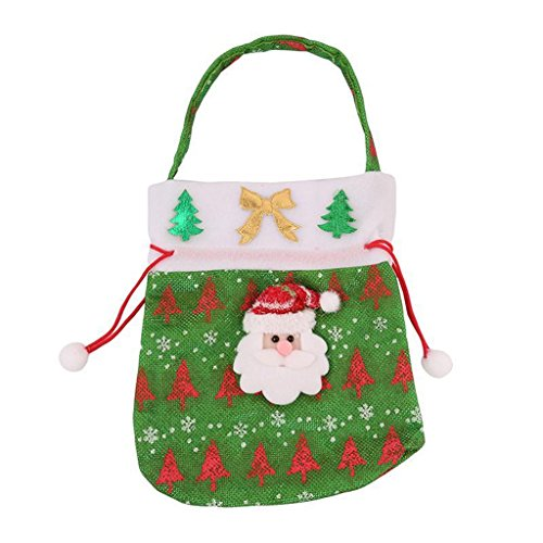 (UNKE Christmas Candy Bag Santa Claus Snowmen Gift Bag Drawstring Present 2320cm)