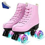 XUDREZ Roller Skates PU Leather High-top Roller