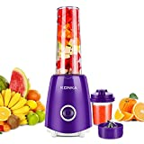 KONKA Personal Blender for Shakes and Smoothies,Portable High Speed Blender for Juice Shakes, Juice Extractor with Two Large Tritan Travel Cups 18oz and 7oz,BPA Free, Purple
