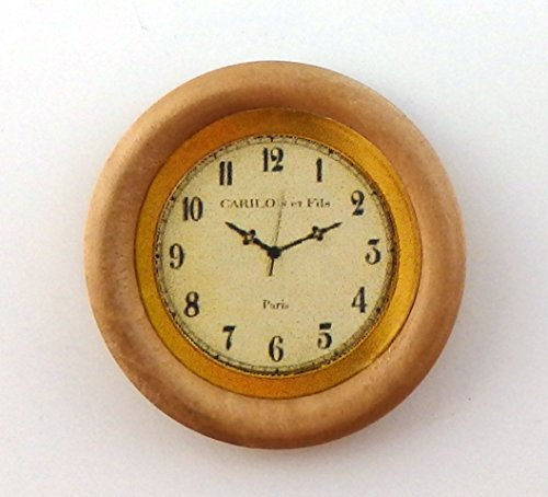 Dollhouse Miniature 1:12 Scale Wooden Clock G7991