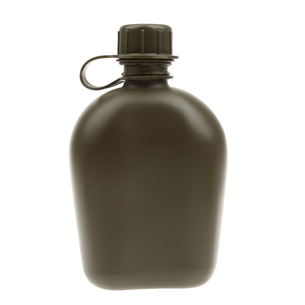 Botella Deportiva De Agua Taza Cantina Militar Al Aire Libre Del Ejército Acampar Bolsa - Camo Cp