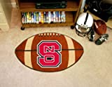 Fan Mats 3367 NCSU – North Carolina State University Wolfpack 22″ x 35″ Football Shaped Area Rug Review