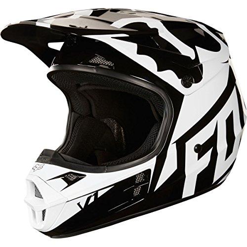 Small Helmet Race (2018 Fox Racing V1 Race Helmet-Black-S)