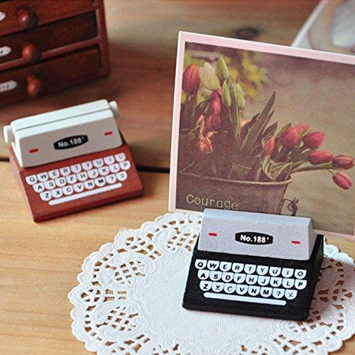 Tutoy 1Pcs Mini Retro Máquina De Escribir Estatuillas De Madera Mensaje Nota Clip Fotos Titular De La Foto - Negro: Amazon.es: Hogar