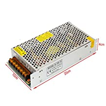 YaeTek 12V DC Switch Power Supply Driver for LED Light , Input: AC110V/220V (12V 10A 120W)