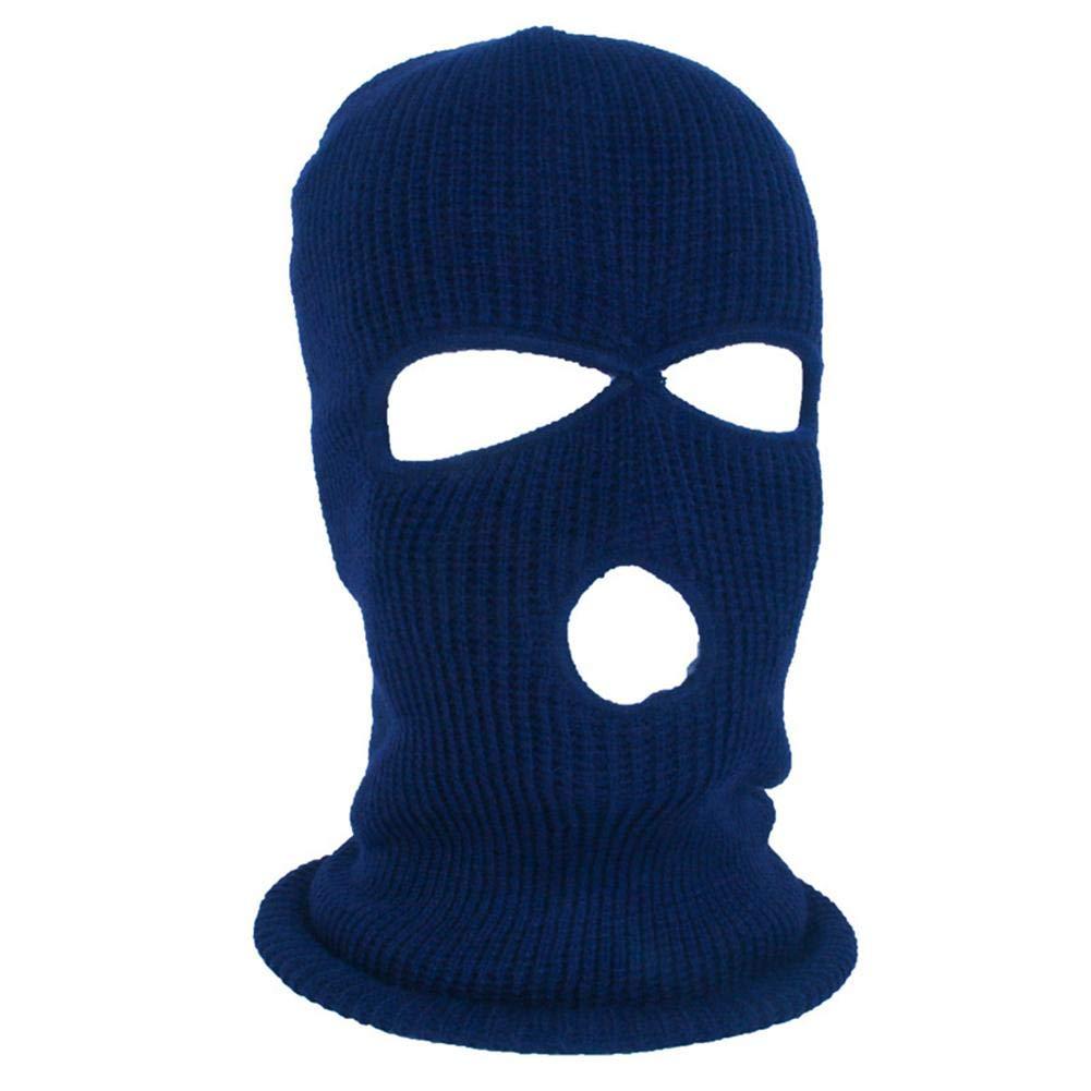 supertop Gesichtsschutz DREI-Loch-Strickmü tze mit Vollmaske Winter Stretch Schneemaske Thermal Ski Maske Warm Gesichtsmasken fü r Skifahren, Snowboarden, Motorradfahren