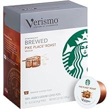 Starbucks Verismo Pike Place Roast Brewed Coffee 72 Pods
