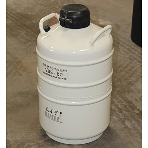 HFS new Version - 20 liter (4 4 Gallon) Cryogenic Container Liquid Nitrogen  Ln2 Tank,Update with Straps and Carry Bag (20 Liter)
