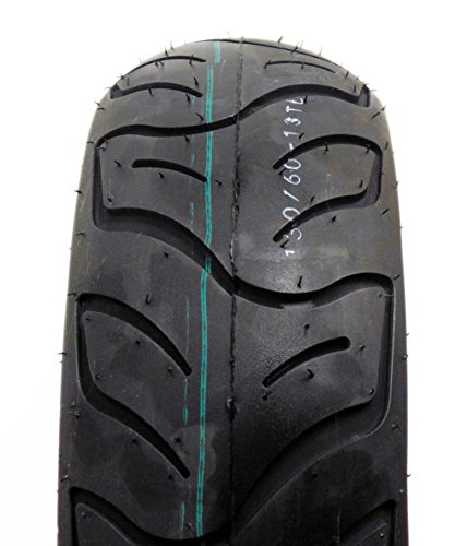 SET OF TWO: Tire 130/60-13 Tubeless Front/Rear Motorcycle Scooter Moped by MMG (Image #1)