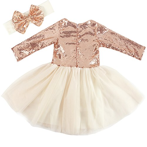 Cilucu Flower Girl Dresses Toddlers Sequin Party Dress