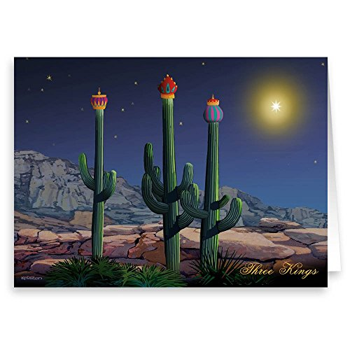 (Three Wise Cacti Christmas Card - 18 Cards/ 19 Envelopes)