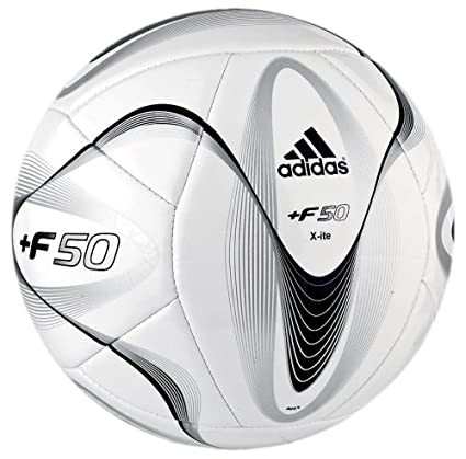 a78ee80df Amazon.com : adidas F50 Xite Soccer Ball (White, Size 4) : Sports ...