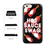 BleuReign(TM) Funny Hot Sauce Swag TPU RUBBER SILICONE Phone Case Back Cover For Apple iPhone 8 and iPhone 7