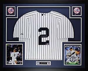 Derek Jeter Autographed Signed and Framed White Yankees