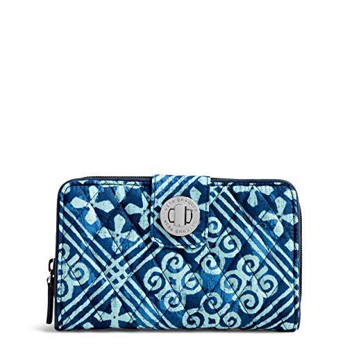 Vera Bradley Women's Rfid Turnlock Wallet, Cuban Tiles