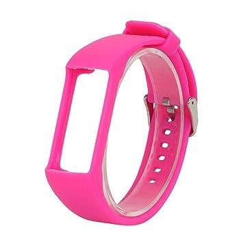 Pulsera Kobwa Polar, de silicona, para reloj de pulsera, banda de repuesto, para Polar A360/A370, color Rosa