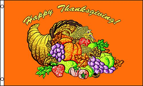 Happy Thanksgiving Flag 3x5ft Poly