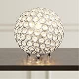 Modern & Luxury Crystal Sphere Table Lamp for Living Room Home Decor - 8'' Tall