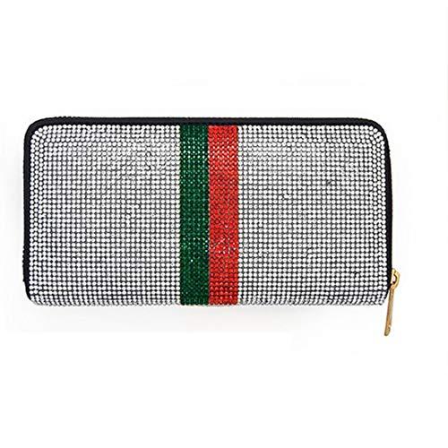 Color Block Crystal Rhinestone Pave Zipper Wallet (Gucci Crystal Wallet)
