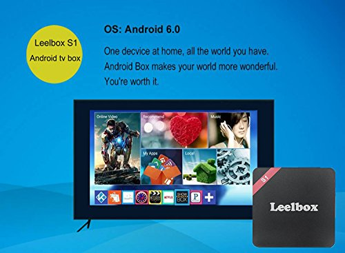 [Android 6 0] Leelbox S1 TV Box KODI 16 1 Preloaded and Unlocked with  CloudTV APP S905X 1GB/8GB WIFI 2 4Ghz Streaming Media Player