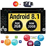Android 8.1 Oreo Touch Screen Car Stereo – 6.2″ inch Double Din In Dash Car