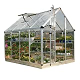 Palram Snap & Grow 6' Series Hobby Greenhouse - 6 x 8 x 7 Silver