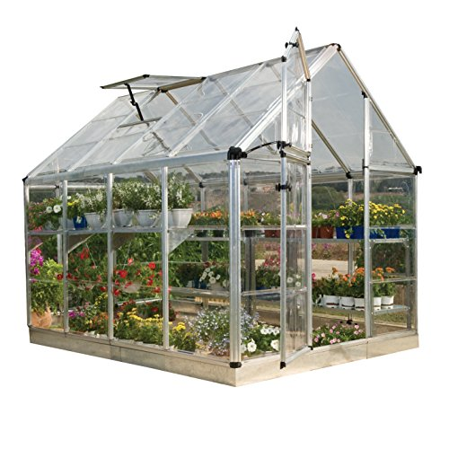 Palram HGK125 Snap & Grow Hobby Greenhouse w/Starter Kit, 6'x8'x7', ()