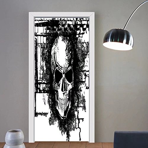 Gzhihine custom made 3d door stickers Tattoo Decor Artistic Pencil Drawing Art Print Nude Fairy Opening its Angel Wings Black and White For Room Decor - Nude Free Dorm