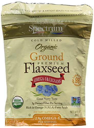 Spectrum Essentials Organic Ground Essential Flaxseed 14 oz. (Pack of 2) (Best Ground Flaxseed Brand)