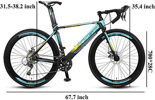 NENGGE 700C Bicicleta de Carretera, Cuadro Hi-Ten Acero, Adulto ...