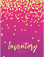 Inventory Log Book: Pink Gold Cover | Simple Inventory Log Book for Business or Personal | Stock Record Book Organizer Logbook | Count Quantity Notebook