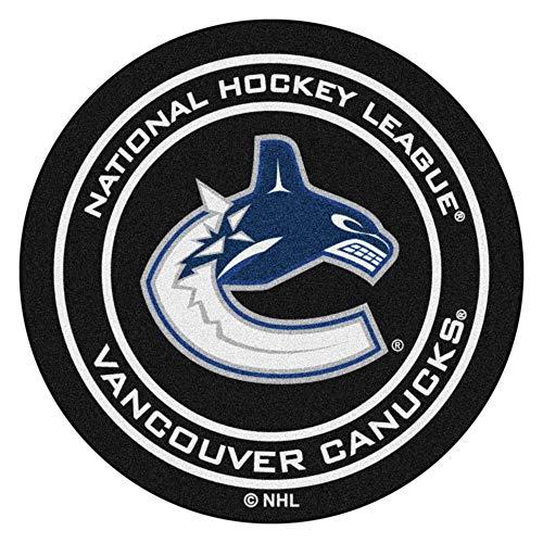 The Hockey Shop Vancouver - FANMATS NHL Vancouver Canucks Nylon Face Hockey Puck Rug