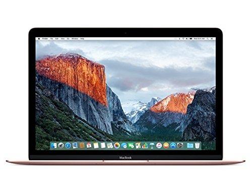 Apple MacBook (Early 2016) 12″ Laptop, 226ppi Retina Display, Intel Core M3-6Y30 Dual-Core, 256GB PCI-E Solid State Drive, 8GB DDR3, 802.11ac, Bluetooth, macOS 10.11.4 El Capitan – Rose Gold