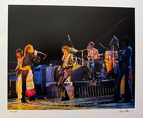 Wall Art by The Rolling Stones Hand Signed Limited Edition Photograph By Gregg Cobarr Measures 16 Inches X 20 Inches by Leos Coffers