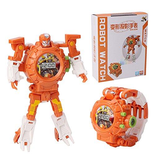 Reloj brillante de Robot de deformación de juguete Con proyección de imagen,Reloj electrónico multifuncional,C902C