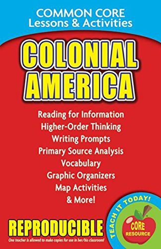 Colonial America - Common Core Lessons and Activities