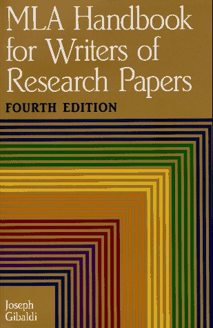 mla handbook for writers of research papers. 6th Mla (modern language association) documentation and style based on the mla handbook for writers of research papers, 6th edition, 2003, written by joseph gibaldi.
