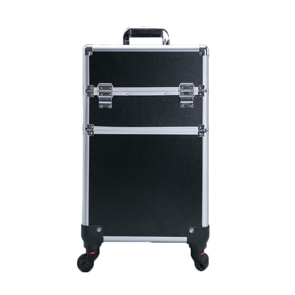 スーツケース 化粧品ケース専門トロリーケースユニバーサルホイールマニキュア美容メイクアップツールボックスパッケージ4ホイールブレーキ付きアルミニウム合金 (色 : B, サイズ さいず : 35*25*55CM) B07KY7T1ZM B 35*25*55CM