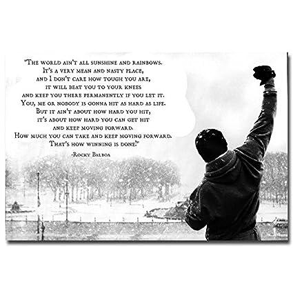 Amazon Com 13 X 20inch Rocky Balboa Inspirational