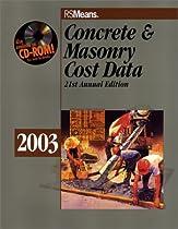 Concrete & Masonry Cost Data 2003 (Rsmeans Concrete/Masonry Cost Data)
