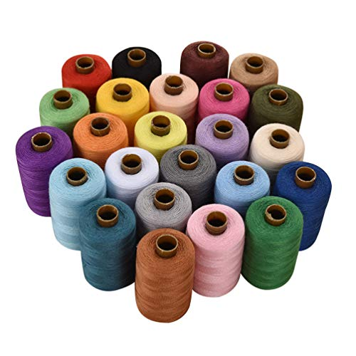 Artibetter 24 Polyester Sewing Threads 1000 Yards Spools Sewing Kit for Serger Overlock Quilting Sewing Machine