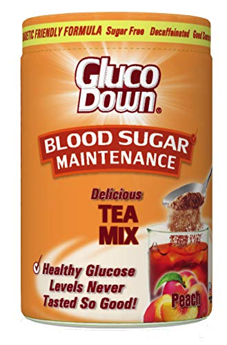 GLUCODOWN Peach Tea Mix, Diabetic Friendly Formula. ()