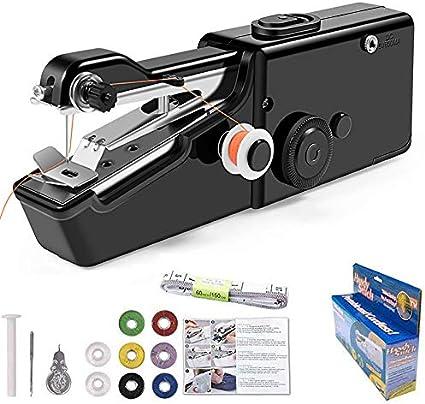 YDKJ De Mano de la máquina de Coser Mini portátil inalámbrico Máquina de Coser eléctrica de reparación rápida para Adecuado para niños/Principiantes,Black Package 2